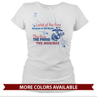 _T-Shirt (Ladies): Land of the Free