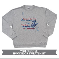 _Sweatshirt or Hoodie: Land of the Free