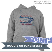 _Youth Long Sleeve Shirt: Land of the Free