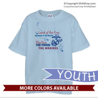 _T-Shirt (Youth): Land of the Free