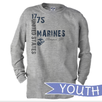 _Youth Long Sleeve Shirt: 1775 US Marines