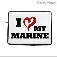 Laptop/Tablet Sleeve: I (Heart) My Marine (for laptop, tablet, iPad)