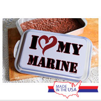 Cake Pan and Lid: I (Heart) My Marine