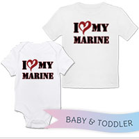 _T-Shirt/Onesie (Toddler/Baby): I (Heart) My Marine