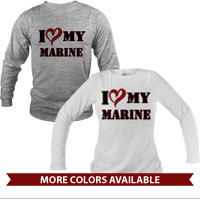 _Long Sleeve Shirt (Unisex): I (Heart) my Marine