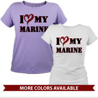 _T-Shirt (Ladies): I (Heart) My Marine