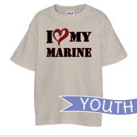 _T-Shirt (Youth): I (Heart) My Marine