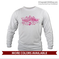 _Long Sleeve Shirt: I Love My Marine -swirls