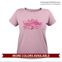 _T-Shirt (Ladies): I Love My Marine -swirls