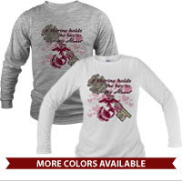 _Long Sleeve Shirt (Unisex): A Marine holds the key to my Heart