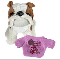 Bull Dog, Plush (t-shirt): A Marine holds the key to my Heart