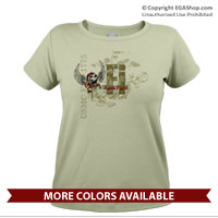 _T-Shirt (Ladies): Semper Fi 'Til I Die