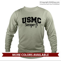 _Long Sleeve Shirt (Unisex): USMC Semper Fi