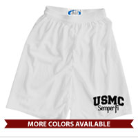 _Athletic Shorts (Unisex): USMC Semper Fi