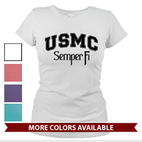 _T-Shirt (Ladies): USMC Semper Fi