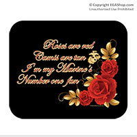 Mousepad: Roses Are Red (On Black)