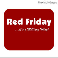 Mousepad: Red Friday It's a Military Thing