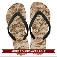 Flip Flops: (adult or youth sizes) Digital Camo Print