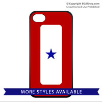 Cell Phone Cover: Blue Star Banner