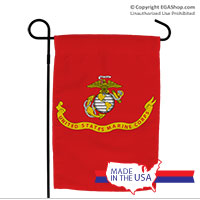 Garden Flag: Likeness of the Marine Corps Flag