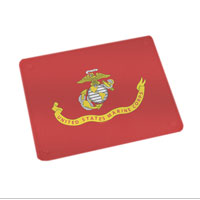 Cutting Board (15x19, glass): Likeness of the Marine Corps Flag