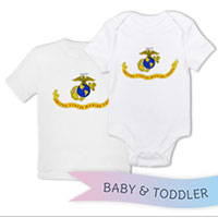 _T-Shirt/Onesie (Toddler/Baby): Likeness of the Marine Corps Flag