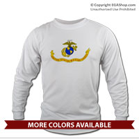 _Long Sleeve Shirt (Unisex): Likeness of the Marine Corps Flag