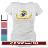 _T-Shirt (Ladies): Likeness of the Marine Corps Flag