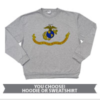 _Hoodie or Sweatshirt: Likeness of the Marine Corps Flag