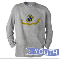 _Youth Long Sleeve Shirt: Likeness of the Marine Corps Flag