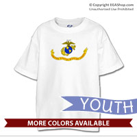 _T-Shirt (Youth): Likeness of the Marine Corps Flag