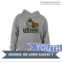 _Youth Hoodie or Long Sleeve Shirt: Semper Fido Full Body