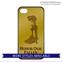Cell Phone Cover: Honor Our Fallen or Never Forget