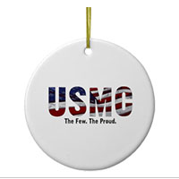 Ornament: USMC Stars-N-Stripes (Porcelain)