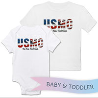 _T-Shirt/Onesie (Toddler/Baby): USMC Stars-N-Stripes