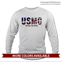 _Long Sleeve Shirt (Unisex): USMC Stars-N-Stripes