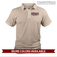 _Polo: USMC Stars-N-Stripes (Unisex)