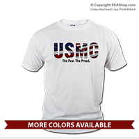 _T-Shirt (Unisex): USMC Stars-N-Stripes