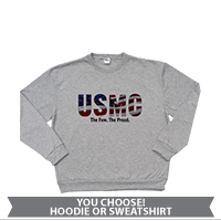 _Hoodie or Sweatshirt: USMC Stars-N-Stripes