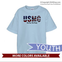 _T-Shirt (Youth): USMC Stars-N-Stripes