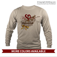 _Long Sleeve Shirt (Unisex): My Heart is in Afghanistan