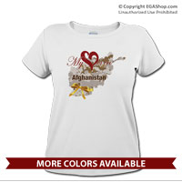 _T-Shirt (Ladies): My Heart is in Afghanistan