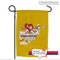 Garden Flag: My Heart is in Afghanistan