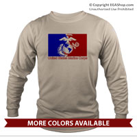 _Long Sleeve Shirt (Unisex): Red/Blue EGA
