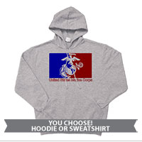_Sweatshirt or Hoodie: Red/Blue EGA