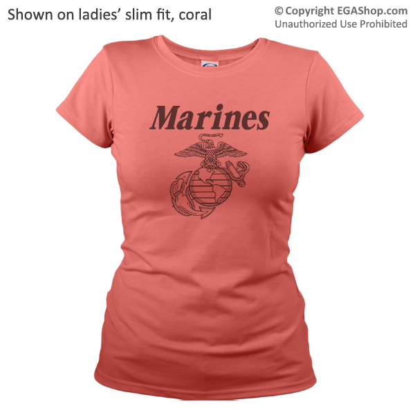 _T-Shirt (Ladies): Line-Drawn EGA