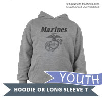 _Youth Hoodie or Long Sleeve Shirt: Line-Drawn EGA