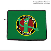 Computer Sleeve: Semper Gumby (for laptop, tablet, iPad)