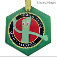 Ornament: Semper Gumby (Glass)