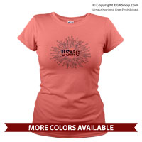 _T-Shirt (Ladies): Fireworks USMC